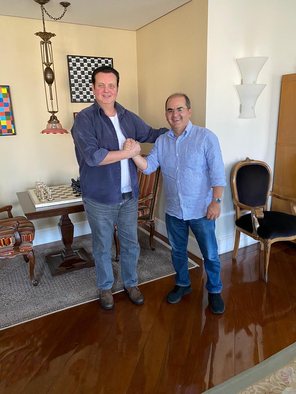 Ricardo Nicolau com Gilberto Kassab   Foto: Divulgação