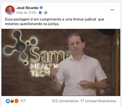 José Ricardo | Foto: Reprodução