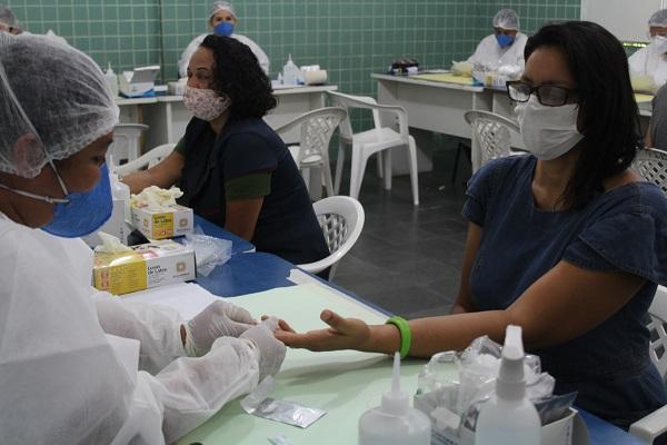 Campanha de testagem em massa da COVID-19 é retomada em Boa Vista. Foto: Ascom/Sesau