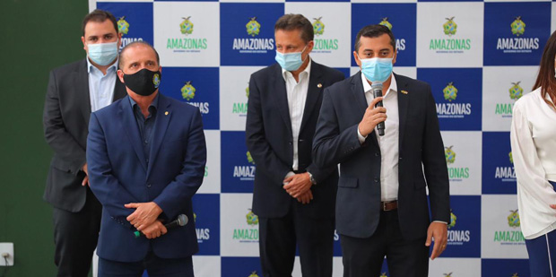 Governador Wilson Lima   Programa Agro Amazonas   Ministro Onyx Lorenzoni   Foto: SECOM