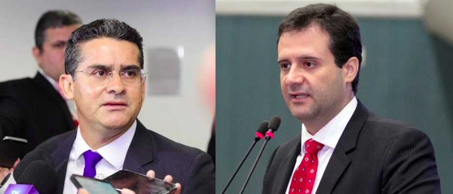 Prefeito David Almeida e Vereador Marcelo Serafim   Foto: Reprodução