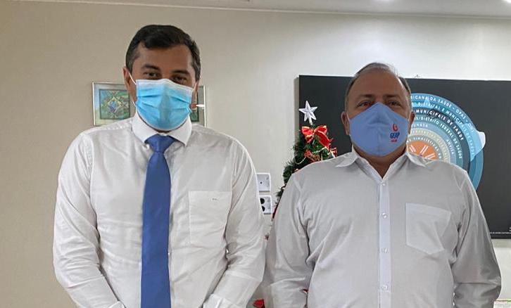 Governador Wilson Lima e Ministro Pazuello | Foto: Maurílio Rodrigues/Secom