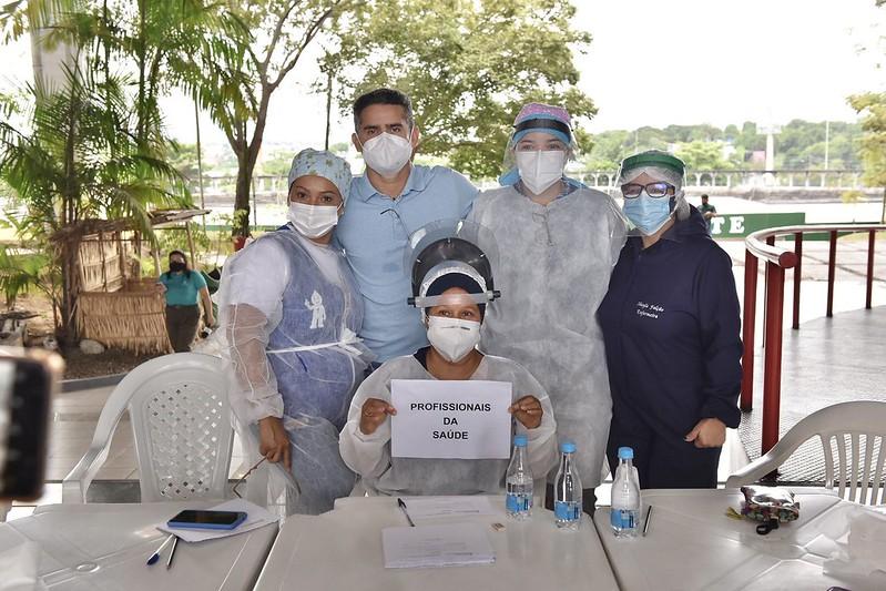 Prefeito de Manaus David Almeida | Vacinação | Foto: Dhyeizo Lemos
