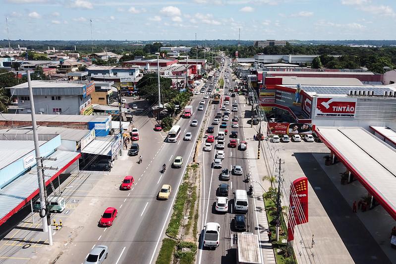 Avenida Torquato Tapajós | Fotos - Sidney Mendonça/IMMU
