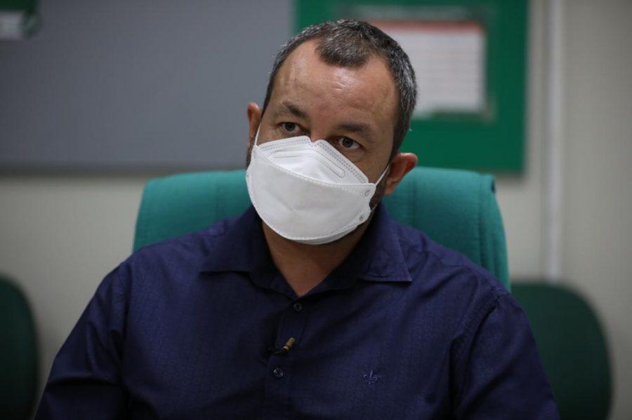 Diretor-presidente em exercício da Fundação de Vigilância em Saúde (FVS-AM), Cristiano Fernandes | FOTOS: Lucas Silva