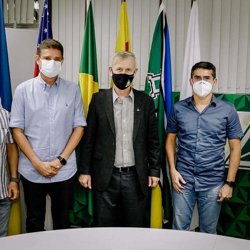 Prefeito David Almeida e Vice Marcos Rotta | Suframa | Foto: Osmar Neto