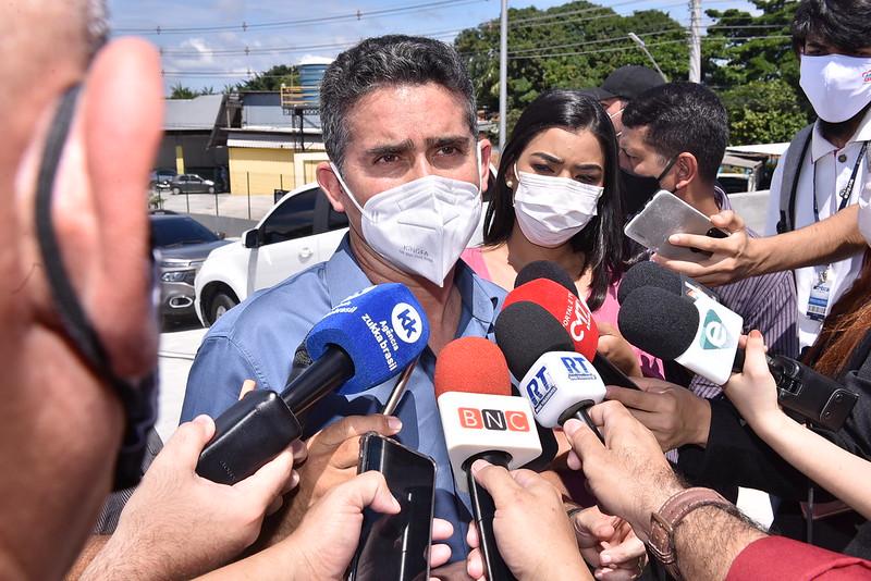 Prefeito de Manaus David Almeida | Foto: Dhyeizo Lemos / Semcom e Osmar Neto / Vice-prefeito