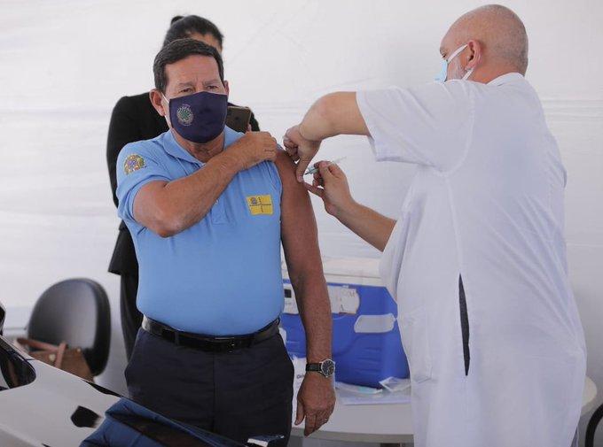 Vice-presidente Hamilton Mourão Vacinação | Covid-19 | Foto: Reprodução