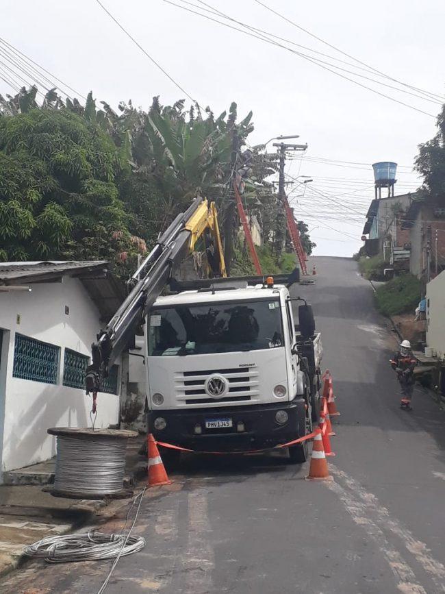 Amazonas Energia no bairro Nossa Senhora de Fátima | Foto: Ascom
