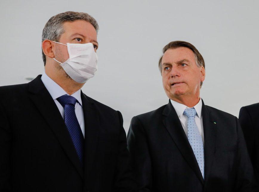 Presidente Jair Bolsonaro com Presidente da câmara Arthur Lira   Foto: Poder 360
