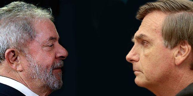 Lula e Jair Bolsonaro   Foto: Internet