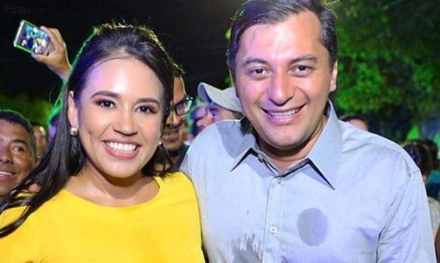 Primeira-dama do Amazonas Taiana Lima e Governador Wilson Lima   Foto: internet
