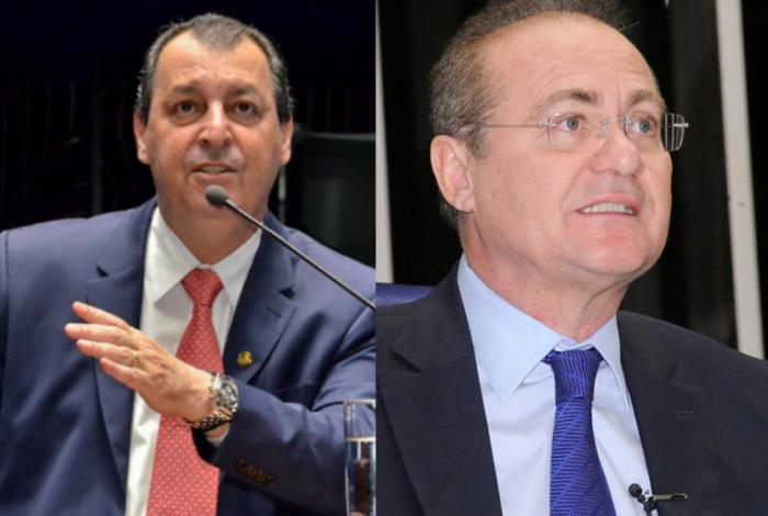 Senadores Renan Calheiros e Omar Aziz | Foto: Senado