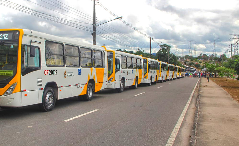 Frota de ônibus em Manaus | IMMU | Foto: João Viana /Semcom e Osmar Neto / Seminf