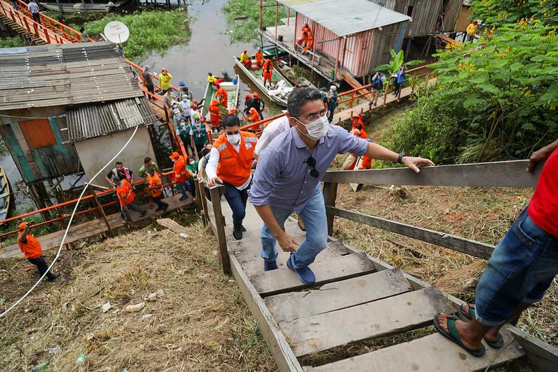 OPERAÇÃO CHEIA 2021 | Prefeito de Manaus David Almeida | Foto: Ruan Souza / Semcom