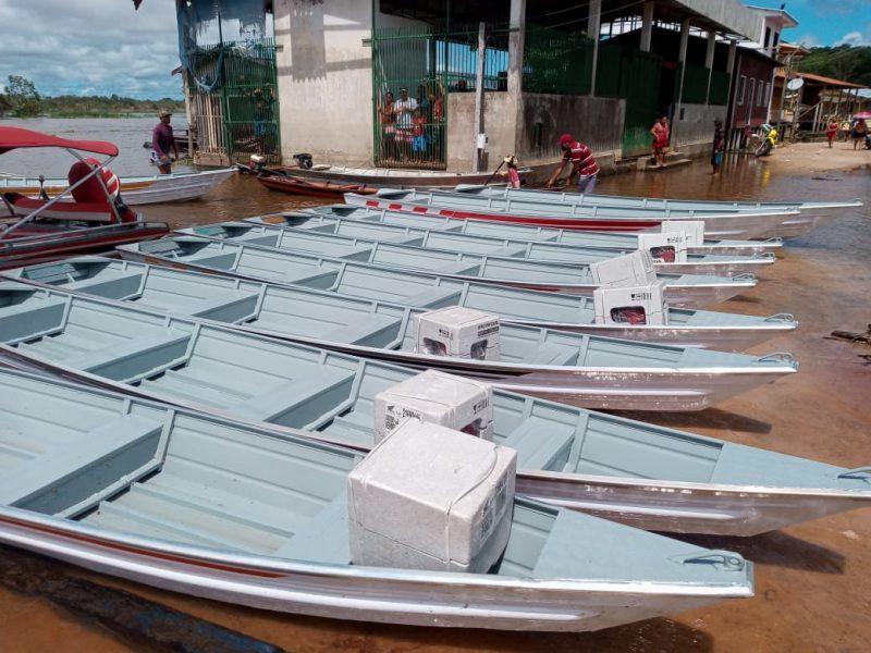 Governo do Amazonas com pescado em Anamã | Foto: Divulgação