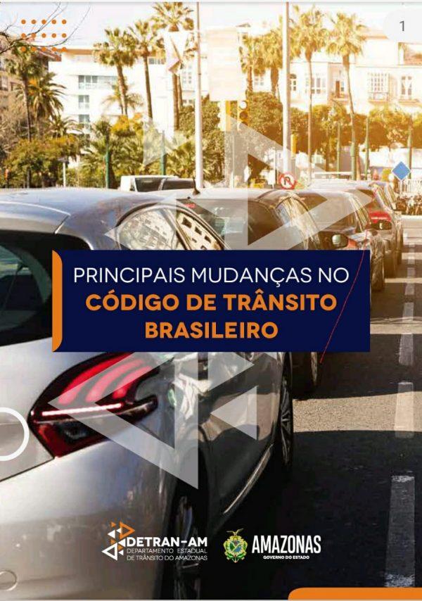 Capa E-book Detran-AM | Código de Trânsito Brasileiro | Foto: Divulgação