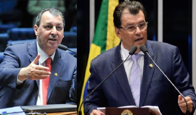 Senadores do Amazonas Omar Aziz e Eduardo Braga | Foto: Senado Federal
