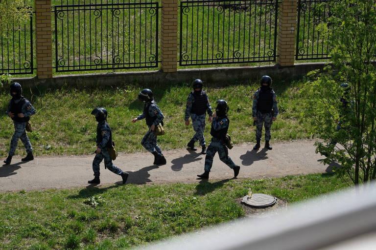 Atentado em escola na Rússia | foto: Reuters