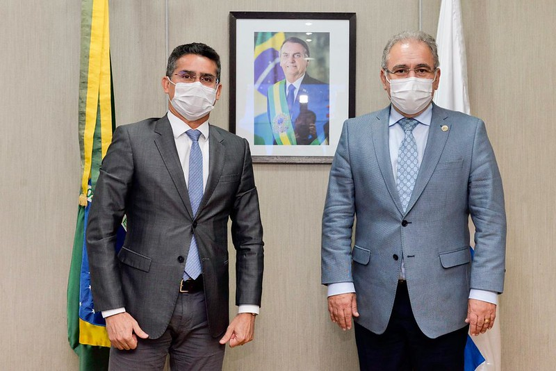 Prefeito de Manaus, David Almeida e ministro da Saúde, Marcelo Queiroga | Foto: Carolina Antunes