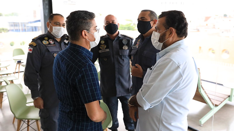Coronel Louismar Bonates e Prefeito de Manaus, David Almeida   Foto: Luiz Carlos Gomes