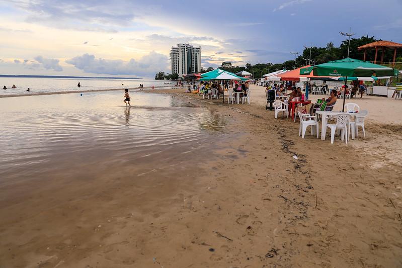 CHEIA 2021: Praia da Ponta Negra em Manaus   Foto: Marcely Gomes/Semcom