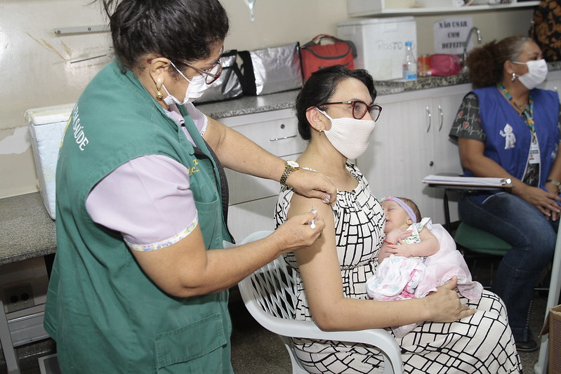 Vacinação em Manaus conta o Covid-19 para gestantes e puérperas | Foto: Marinho Ramos / Semcom