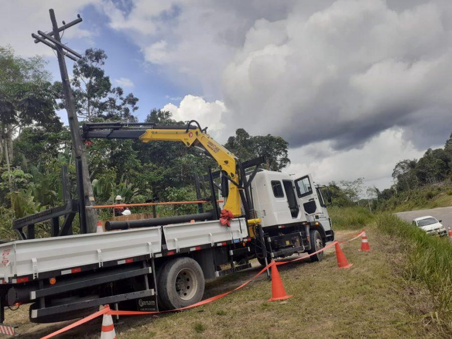 Amazonas Energia na BR-174 | Foto: ASCOM