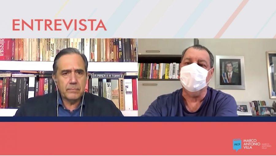 Senador Omar Aziz em entrevista a marco Antonio Vilela \ Foto: reprodução