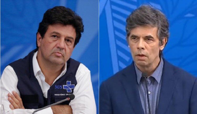 Luiz Henrique Mandetta e Nelson Teich na CPI da Covid   Foto: Internet
