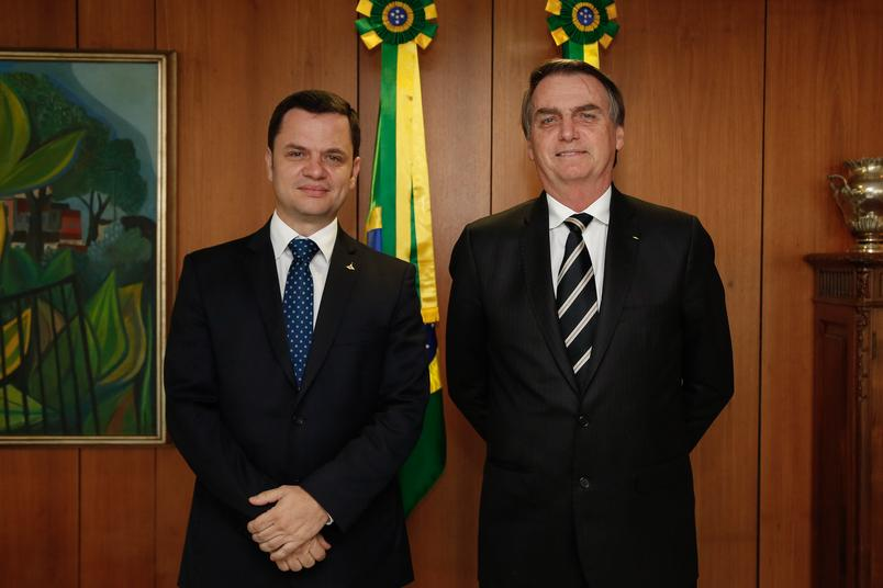 ministro da Justiça, Anderson Torres e Presidente Jair Bolsonaro | Foto: Carolina Antunes/PR