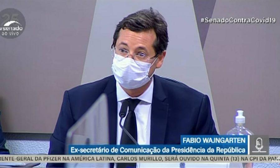 Ex-ministro das comunicações SECOM, Fabio Wajngarten   Foto: reprodução