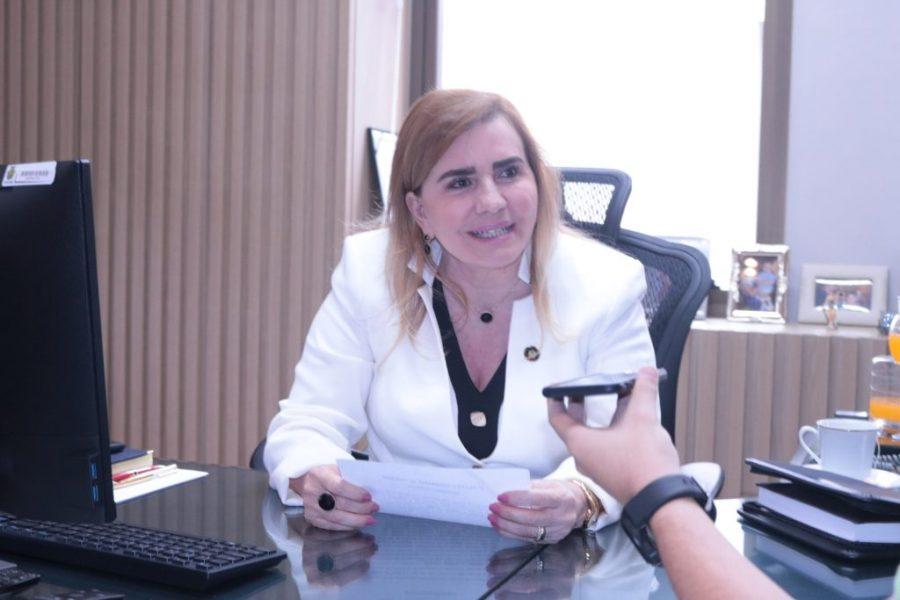 Coordenadora-geral da ECP, conselheira Yara Lins dos Santos   Foto: DECOM