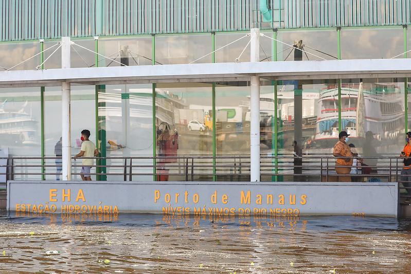 Rio Negro Amazonas Cheia 2021 Prefeitura de Manaus
