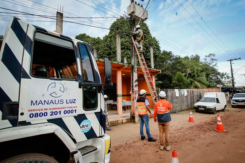 """""""Ilumina Manaus Rural"""" Iluminação de LED comunidades rural Manaus Marcos Rotta SEMINF"""
