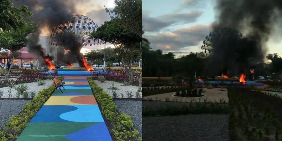 Prefeitura de Manaus Bola das Letras Incêndio Facção