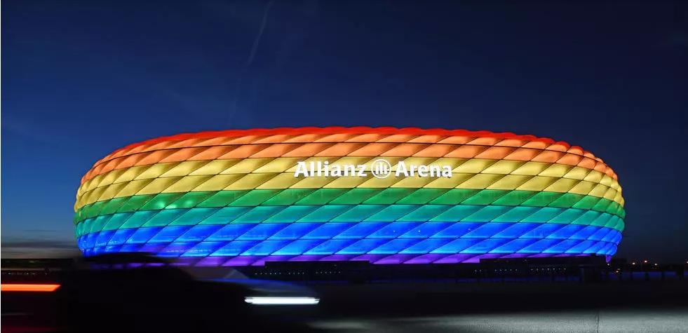 UEFA Estádio em Munique LGBT