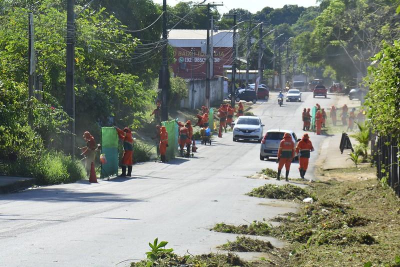 Estrada da Vivenda Verde SEMULSP Prefeitura de Manaus