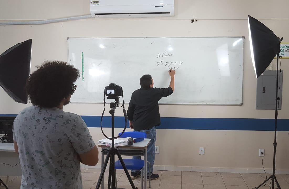 Ensino remoto. Imagem arquivo Ascom