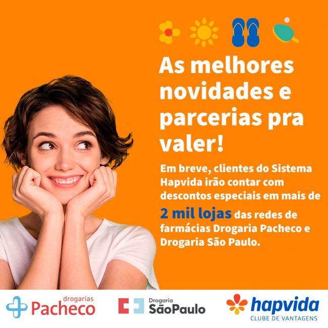 Clube de Descontos Hapvida Drogarias Pacheco Drogaria São Paulo