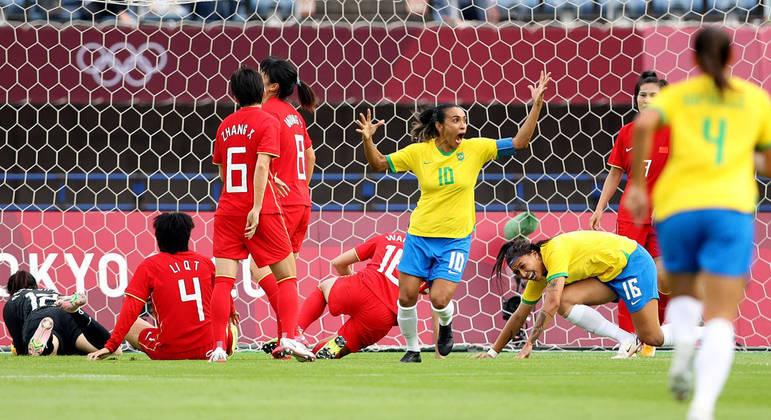 Olimpíadas Brasil China Futebol Feminino