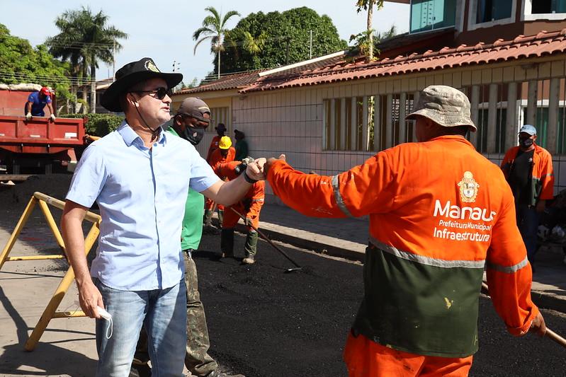 Prefeitura de Manaus David Almeida bairro Tarumã SEMINF