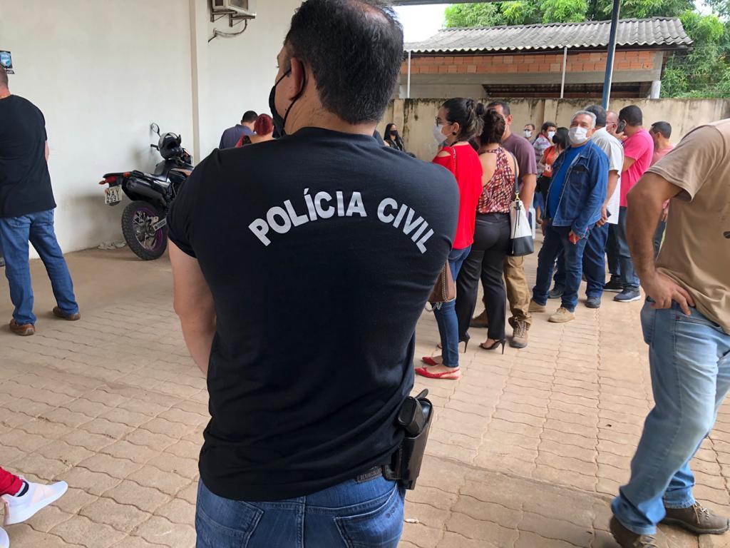 Servidores da Polícia Civil recebem segunda dose da vacina contra covid-19. Imagem Secom