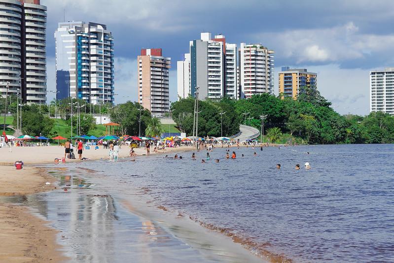 Prefeitura de Manaus Praia da Ponta Negra Reabertura Covid-19
