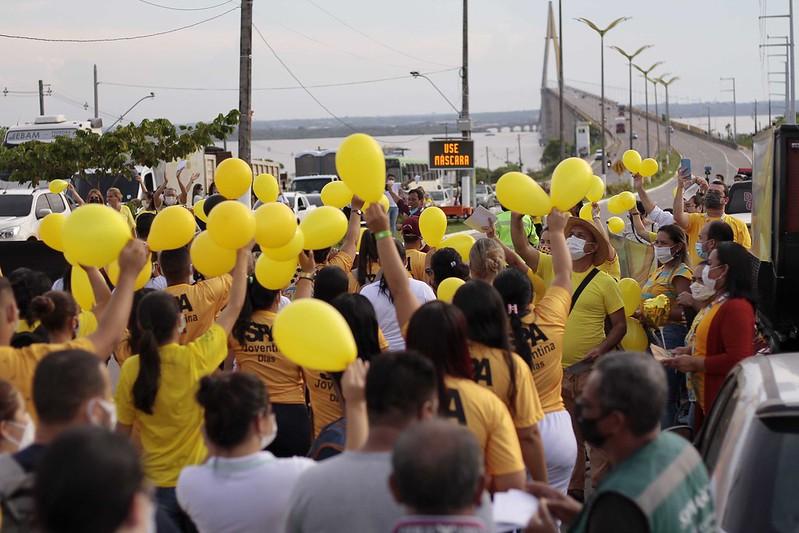 Setembro Amarelo Semasc Prefeitura de Manaus ponte Jornalista Phelippe Daou