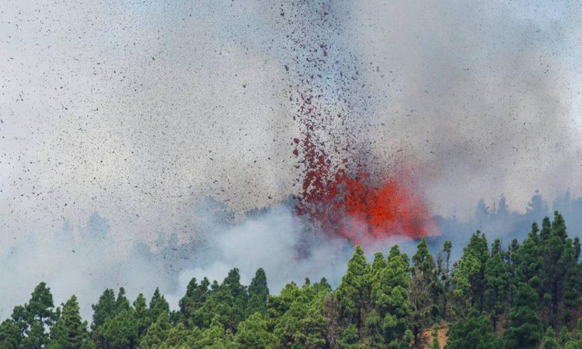 Vulcão Cumbre Vieja Erupção Ilhas Canárias