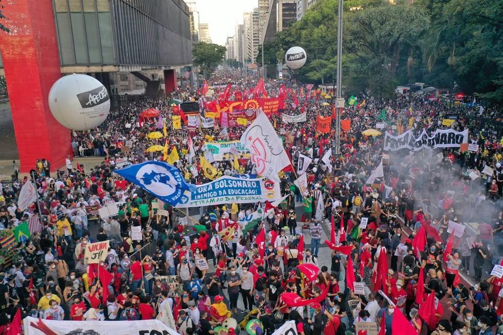 Manifestações contra governo Jair Bolsonaro Brasil