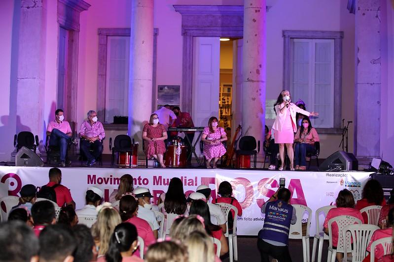 Outubro Rosa Prefeitura de Manaus Câncer de mama Câncer colo do útero