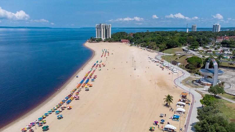 Praia da Ponta Negra Prefeitura de Manaus Covid-19