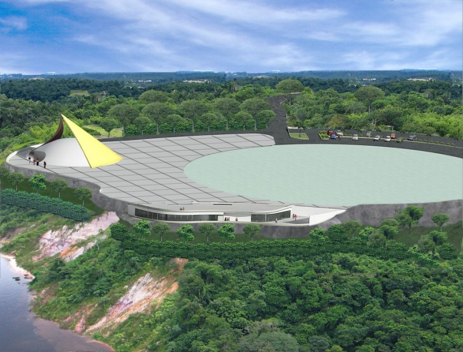 Prefeitura de Manaus Parque Encontro das Águas Projeto de Niemeyer